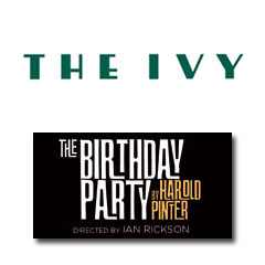 Book The Birthday Party + 2 Course Post-Theatre Meal at The Ivy Tickets