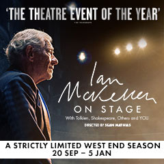 Book Ian McKellen on Stage Tickets