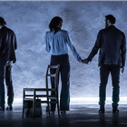Tom Hiddleston, Zawe Ashton and Charlie Cox in Betrayal at the Harold Pinter Theatre Photo Credit: Marc Brenner