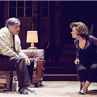 Conleth Hill and Imelda Staunton in Edward Albee's Who's Afraid of Virginia Woolf? Photo by Johan Persson