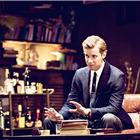 Luke Treadaway in Edward Albee's Who's Afraid of Virginia Woolf? Photo by Johan Persson