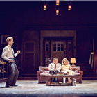 Luke Treadaway, Conleth Hill, Imogen Poots and Imelda Staunton in Edward Albee's Who's Afraid of Virginia Woolf? Photo by Johan Persson