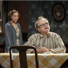 Zoe Wanamaker and Toby Jones in The Birthday Party. Credit: Johan Persson