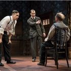 Stephen Mangan, Tom Vaughan-Lawlor and Toby Jones in The Birthday Party. Credit: Johan Persson