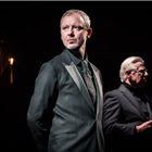 John Simm and Phil Davis in Party Time/Celebration at The Harold Pinter Theatre, London. Photo credit: Marc Brenner