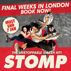 Book Stomp + FREE 2 Course Dinner Tickets