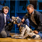 Nicholas Antoniou-Tibbitts and Kobi Watson in Sue Townsend's The Secret Diary of Adrian Mole at the Ambassadors Theatre - photo credit Pamela Raith
