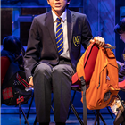 Michael Hawkins in Sue Townsend's The Secret Diary of Adrian Mole at the Ambassadors Theatre - photo credit Pamela Raith