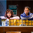 Amy Ellen-Richardson and Andrew Langtree in Sue Townsend's The Secret Diary of Adrian Mole at the Ambassadors Theatre - photo credit Pamela Raith