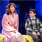 Amy Ellen-Richardson and Aaron Gelkoff in Sue Townsend's The Secret Diary of Adrian Mole at the Ambassadors Theatre - photo credit Pamela Raith