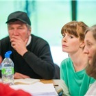 Tom Mannion (Joe Keller), Amy Nuttall (Ann Deever) and Brid Brennan (Kate Keller). Photo: Tommy Ga-Ken Wan
