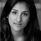 Taj Atwal (Meenah Khan). East Is East at Trafalgar Studios, 2014.