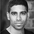 Darren Kuppan (Maneer Khan). East Is East at Trafalgar Studios, 2014.
