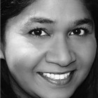 Rani Moorthy (Mrs. Shah). East Is East at Trafalgar Studios, 2014.