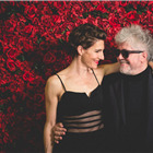 Tamsin Greig (Pepa) and Pedro Almodovar. Photo by Darren Bell for ATG.