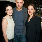 Phoebe Fox (Catherine), Mark Strong (Eddie) and Nicola Walker (Beatrice) at the press night party for A View from the Bridge. Photos by David Jensen.