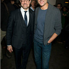 Stanley Tucci and Mark Strong (Eddie) at the press night party for A View from the Bridge. Photos by David Jensen.