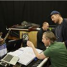 Damon Albarn and Music Supervisor David Shrubsole in wonder.land rehearsals. Photo by Brinkhoff and Mogenburg
