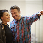 Lois Chimimba and Hall Fowler in wonder.land rehearsals. Photo by Brinkhoff and Mogenburg