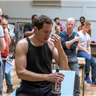 Bertie Carvel and company in rehearsals for The Hairy Ape, London 2015. Photo by Manuel Harlan.