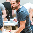 Callum Dixon in rehearsals for The Hairy Ape, London 2015. Photo by Manuel Harlan.