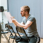 Christopher Akrill in rehearsals for The Hairy Ape, London 2015. Photo by Manuel Harlan.