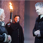 Judi Dench (Paulina) and Kenneth Branagh (Leontes) in The Winter�s Tale at the Garrick Theatre. Photo: Johan Persson/Kenneth Branagh Theatre Company/Garrick