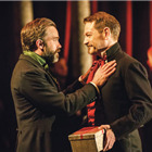 Hadley Fraser (Polixenes) and Kenneth Branagh (Leontes) in The Winter�s Tale at the Garrick Theatre. Photo: Johan Persson/Kenneth Branagh Theatre Company/Garrick