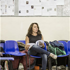Samantha Spiro in A Christmas Carol rehearsals. Photo by Marc Brenner.