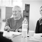 Nicholas Lyndhurst and Katherine Jenkins in Carousel rehearsals. Photo by Craig Sugden