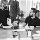 Katherine Jenkins and Alfie Boe in Carousel rehearsals. Photo by Craig Sugden
