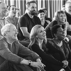 Nicholas Lyndhurst, Katherine Jenkins and Alfie Boe in Carousel rehearsals. Photo by Craig Sugden