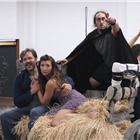 Hadley Fraser, Summer Strallen and Ross Noble in Young Frankenstein rehearsals. London, 11 August 2017. © LOVEtheatre/Group Line