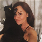 Emma Hatton with her cat Hendrix