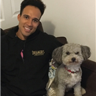 Rohan Richards of Dreamgirls with his dog Todd