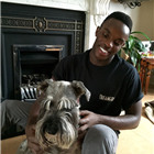 Ryan Reid of Dreamgirls with his dog Mya