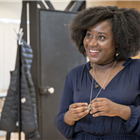 Susan Wokoma in rehearsal for Labour of Love