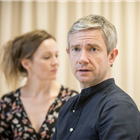 Martin Freeman and Rachael Stirling in rehearsal for Labour of Love