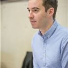 James Graham (writer) in rehearsal for Labour of Love