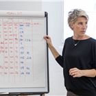Tamsin Greig in rehearsal for Labour of Love