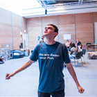 Brian Vernel in rehearsal for The Seagull. Photography by Tristram Kenton