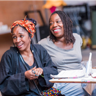 Cherrelle Skeete and Michele Austin in rehearsal for The Seagull. Photography by Tristram Kenton