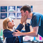 Lesley Sharp and Brian Vernel in rehearsal for The Seagull. Photography by Tristram Kenton