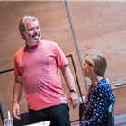 Lloyd Hutchinson in rehearsal for The Seagull. Photography by Tristram Kenton