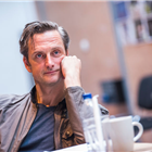 Nicholas Gleaves in rehearsal for The Seagull. Photography by Tristram Kenton