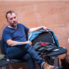 Nicolas Tennant in rehearsal for The Seagull. Photography by Tristram Kenton