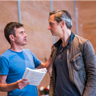 Paul Higgins and Nicholas Gleaves in rehearsal for The Seagull. Photography by Tristram Kenton