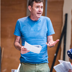 Paul Higgins in rehearsal for The Seagull. Photography by Tristram Kenton
