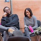 Raphael Sowole and Adelayo Adedayo in rehearsal for The Seagull. Photography by Tristram Kenton