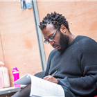 Raphael Sowole in rehearsal for The Seagull. Photography by Tristram Kenton